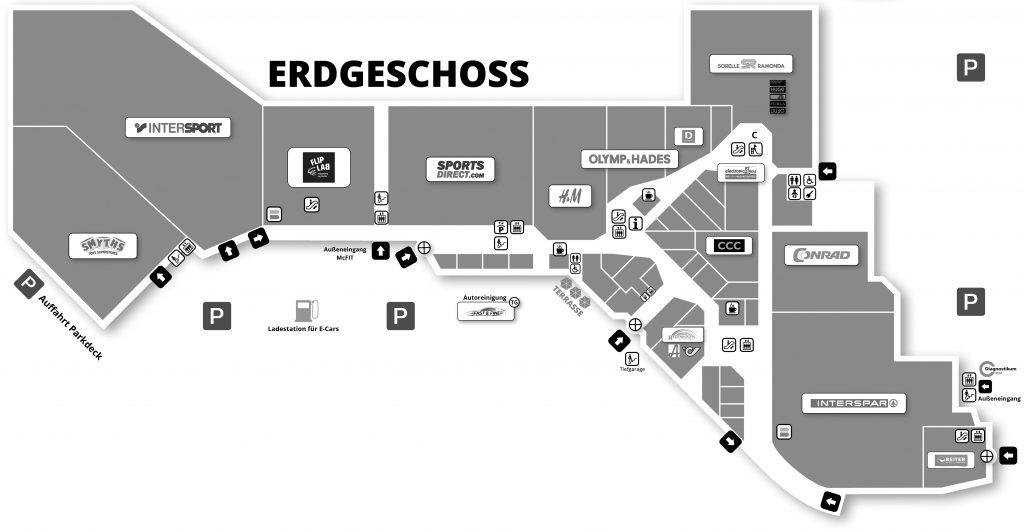 City Center Shop Map